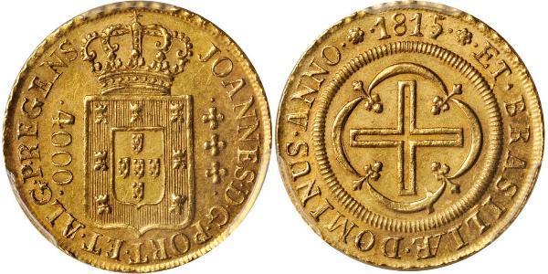 4000 Рейс Бразилия Золото Жуан VI король Португалии (1767-1826)