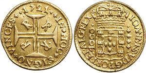 4000 Рейс Бразилія Золото Жуан V король Португалії (1689-1750)
