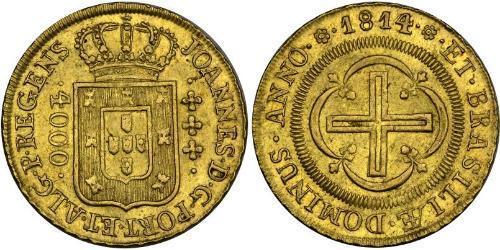 4000 Reis Brasilien Gold Johann VI. von Portugal  (1767-1826)