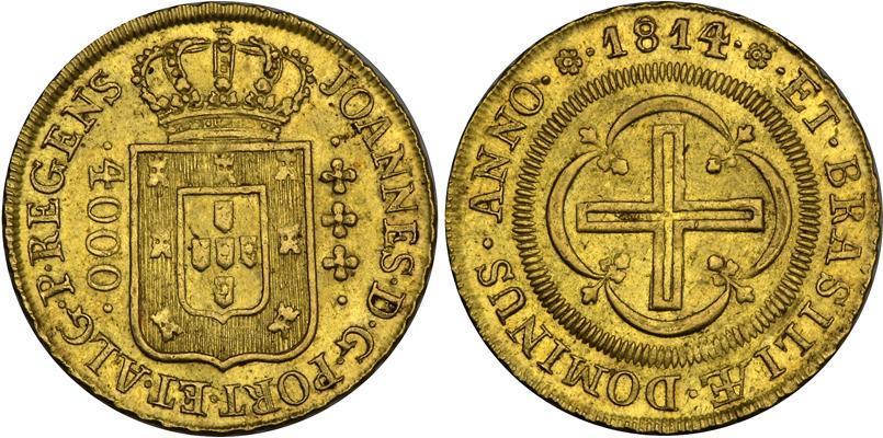 M 252 Nze 4000 Reis Brasilien Gold 1814 Johann Vi Von