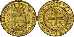 4000 Reis Brazil Gold John VI of Portugal (1767-1826)
