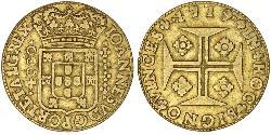 4000 Reis Kingdom of Portugal (1139-1910) Gold John V of Portugal (1689-1750)