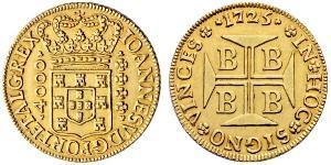 4000 Reis Brésil Or Jean V de Portugal (1689-1750)