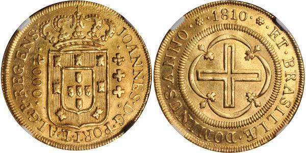 4000 Reis Brésil Or Jean VI de Portugal (1767-1826)