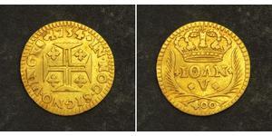 400 Рейс Королівство Португалія (1139-1910) Золото Жуан V король Португалії (1689-1750)