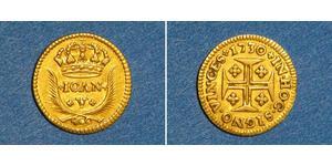 400 Reis 葡萄牙王國 (1139 - 1910) 金 若昂五世 (1689 - 1750)