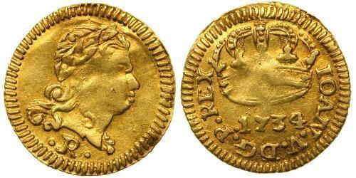400 Reis Brazil Gold John V of Portugal (1689-1750)