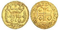 400 Reis Kingdom of Portugal (1139-1910) Gold