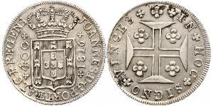 400 Reis Kingdom of Portugal (1139-1910) Silber
