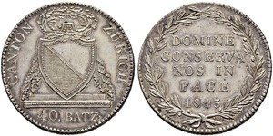 40 Batz Svizzera Argento