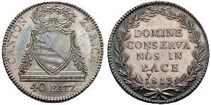 40 Batz Schweiz Silber
