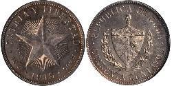 40 Centavo Kuba Silber