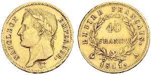 40 Franc 法兰西第一帝国 (1804 - 1814) 金 拿破仑一世(1769 - 1821)