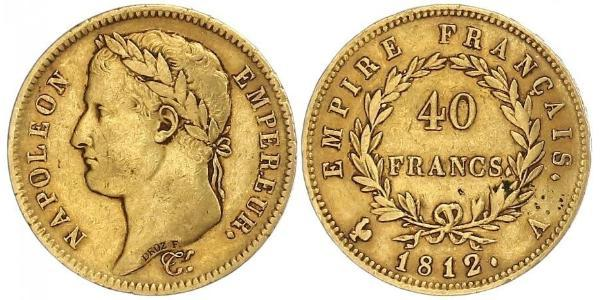 40 Franc First French Empire (1804-1814) Gold Napoleon (1769 - 1821)