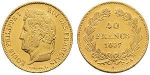 40 Franc Julimonarchie (1830-1848) Gold Louis-Philippe I (1773 -1850)