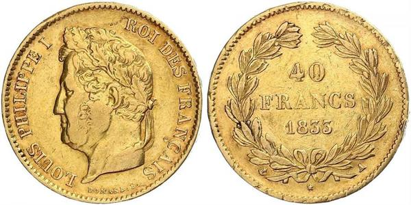 40 Franc July Monarchy (1830-1848) Gold Louis Philippe I of France (1773 -1850)