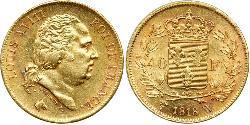 40 Franc Kingdom of France (1815-1830) Gold Ludwig XVIII (1755-1824)