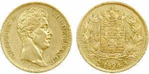 40 Franc Kingdom of France (1815-1830) Gold Charles X of France (1757-1836)