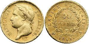 40 Franc Premier Empire (1804-1814) Or Napoléon Ier(1769 - 1821)