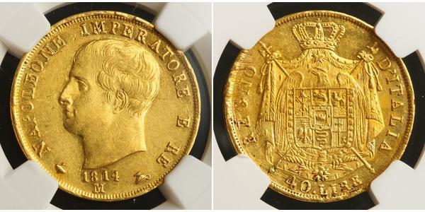40 Lira Kingdom of Italy (Napoleonic) (1805–1814) Gold Napoleon (1769 - 1821)