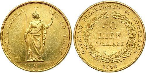 40 Lira Italian city-states Or