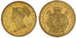 40 Lira Italia / Ducado de Parma (1545 - 1859) Oro María Luisa de Habsburgo-Lorena