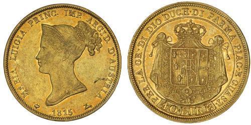 40 Lira Italia / Ducato di Parma e Piacenza (1545 - 1859) Oro Maria Luisa d