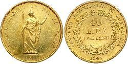 40 Lira Italian city-states Oro