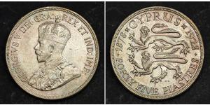 45 Piastre British Cyprus (1878 - 1960) Argent George V (1865-1936)