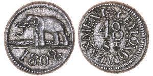 48 Stiver Sri Lanka/Ceylon 銀