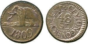 48 Stiver Sri Lanka/Ceylon Silver