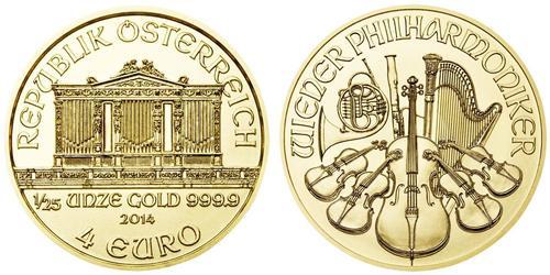 4 Євро Австрійська Республіка (1955 - ) Золото