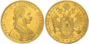 4 Дукат Австро-Венгрия (1867-1918) Золото Франц Иосиф I (1830 - 1916)