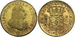 4 Ескудо Нова Іспанія (1519 - 1821) Золото Філіп V король Іспанії  (1683-1746)
