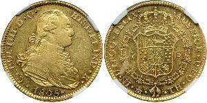 4 Ескудо Нова Іспанія (1519 - 1821) Золото Карл IV король Іспанії  (1748-1819)