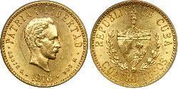 4 Песо  Золото Jose Julian Marti Perez (1853 - 1895)