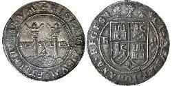 4 Реал Нова Іспанія (1519 - 1821) Срібло Карл V імператор Священної Римської імперії (1500-1558)