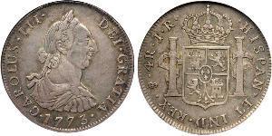 4 Реал Ріо-де-ла-Плата (віце-королівство) (1776 - 1814) / Болівія Срібло Карл III король Іспанії (1716 -1788)