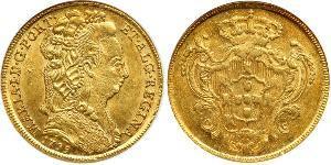 4 Эскудо Королевство Португалия (1139-1910) Золото Мария I королева Португалии (1734-1816)