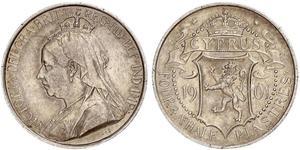 4 1/2 Piastre Republik Zypern / British Cyprus (1878 - 1960) Silber Victoria (1819 - 1901)