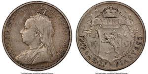 4 1/2 Piastre Cyprus / British Cyprus (1914–1960) Silver Victoria (1819 - 1901)
