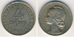 4 Centavo First Portuguese Republic (1910 - 1926) Copper/Nickel