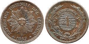 4 Centesimo Uruguay Kupfer