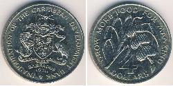 4 Dollar Barbados Copper/Nickel
