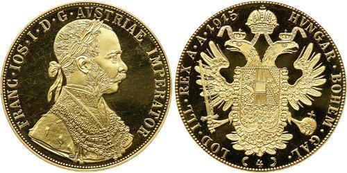 4 Ducat 奥匈帝国 (1867 - 1918) 金 弗朗茨·约瑟夫一世 (1830 - 1916)
