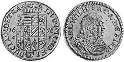 4 Ducat Principality of Anhalt-Zerbst (1544 - 1796) Gold Karl, Prince of Anhalt-Zerbst (1652 – 1718)