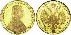 4 Ducat Russisches Reich (1720-1917) Gold Alexander II (1818-1881)