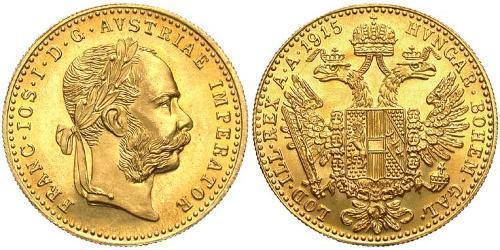 4 Ducat Imperio austrohúngaro (1867-1918) Oro Franz Joseph I (1830 - 1916)