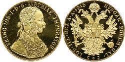 4 Ducat Impero austro-ungarico (1867-1918) Oro Franz Joseph I (1830 - 1916)