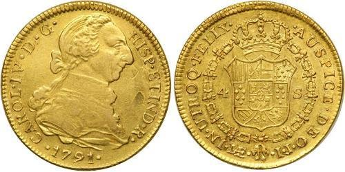 4 Escudo 秘鲁 金 卡洛斯四世 (1748-1819)